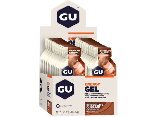 GU Energy Gel Box 24x32g, Chocolate Outrage (2019) | Energy gels